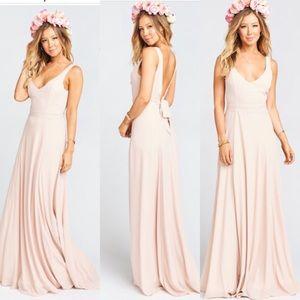 🌸 Show Me Your MuMu Blush Bridesmaid Gown 🌸